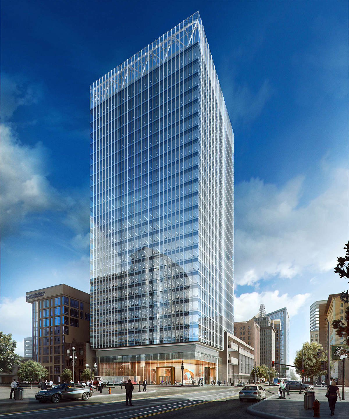 Salt Lake City Downtown Buildings: Hat Truss-supported Office Tower Tops Off In Downtown Salt