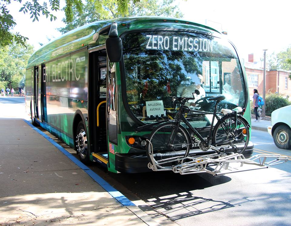 UGA is testing electric buses. like this on, as part of a grant to add 19 to its fleet.