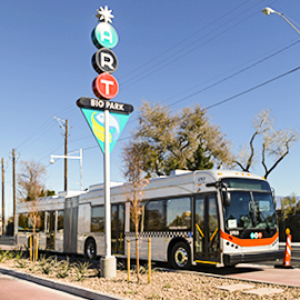 HDR-designed Albuquerque Rapid Transit system. Photo courtesy of HDR.