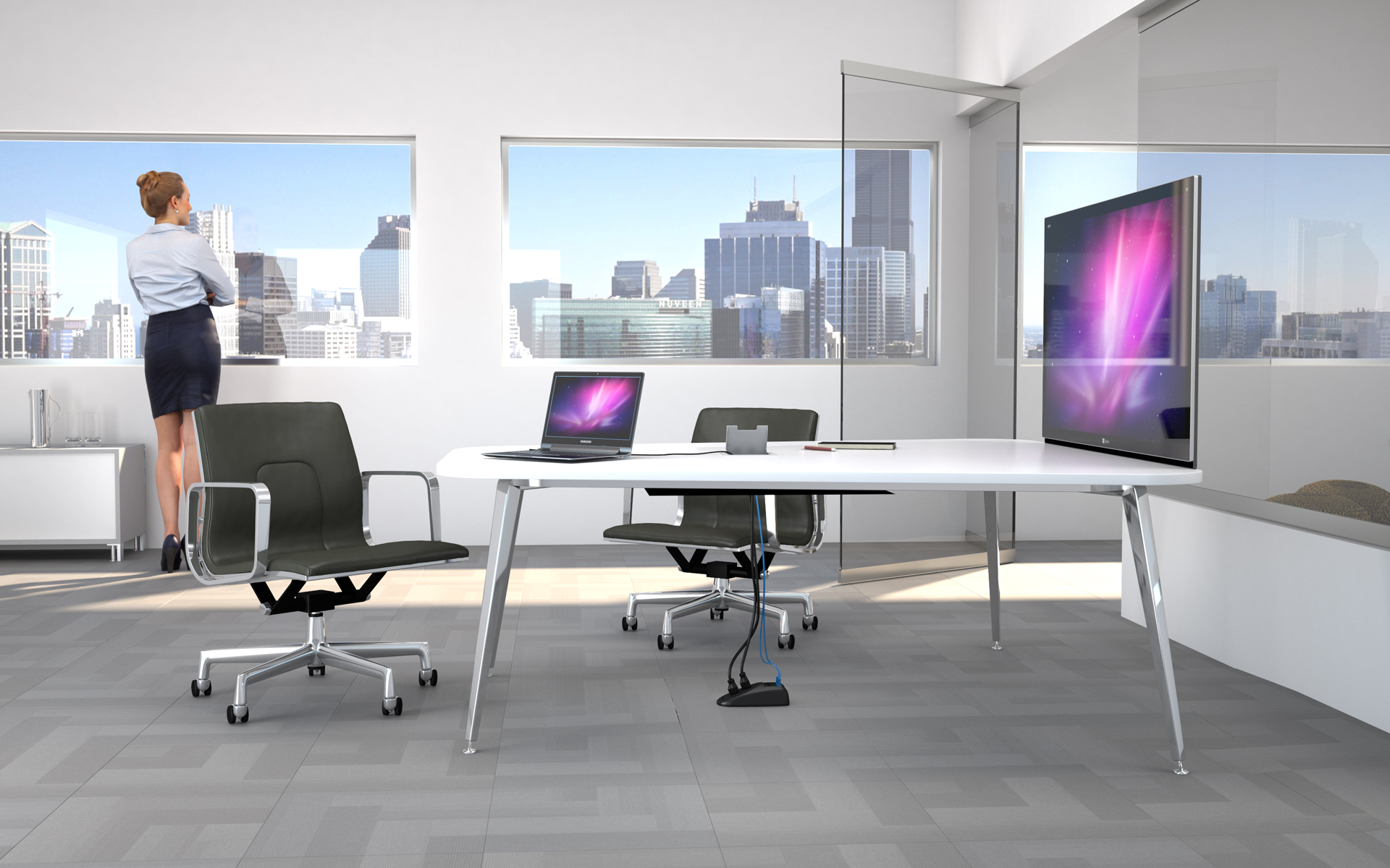 Invisible Connectivity With Connectrac Under Carpet