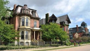 The Brush Park historic district in Detroit.