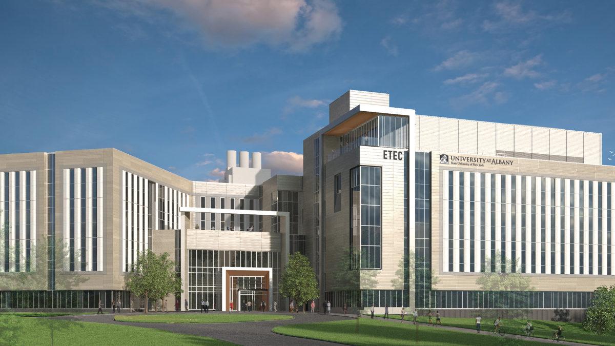 Rendering of the University of Albany ET
