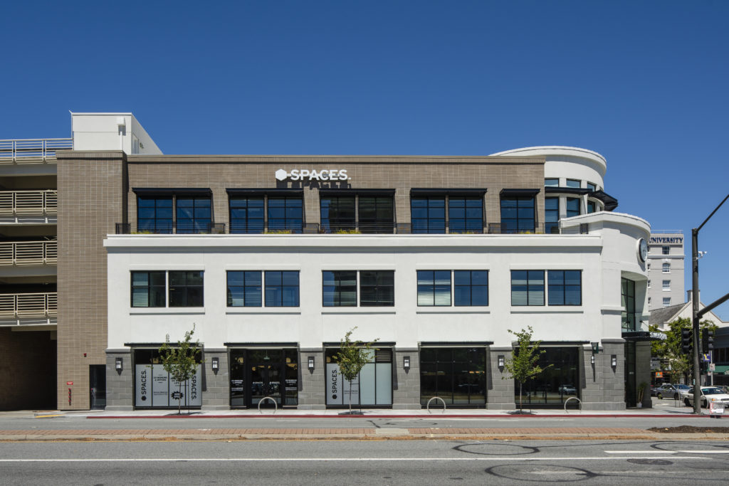 Mixed use building built with NewBrick in San Mateo, CA.