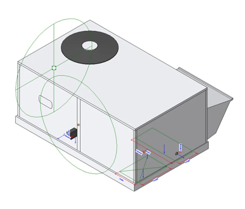 Carrier Small Packaged Outdoor Rooftop Revit air-conditioning model