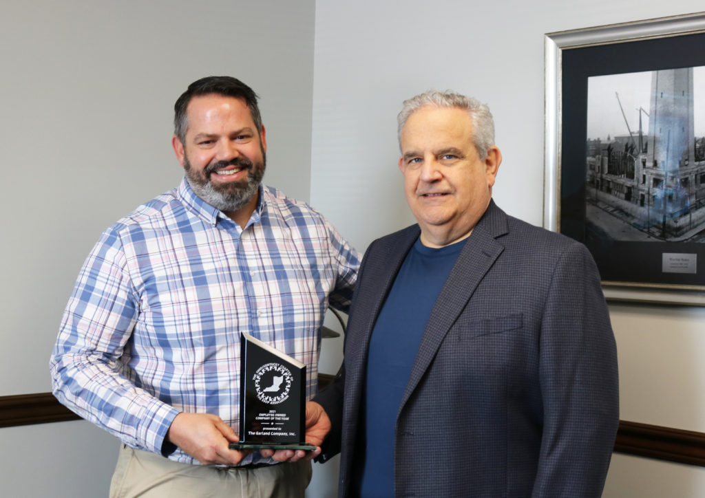 Two Garland leaders accepting ESOP award